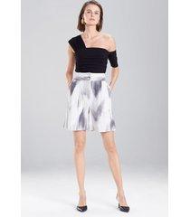 radiant texture shorts, women's, white, cotton, size 4, josie natori