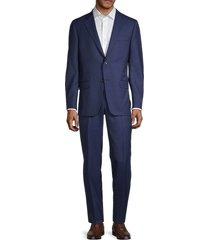 hickey freeman men's milburn iim series regular-fit wool suit - blue - size 42 s