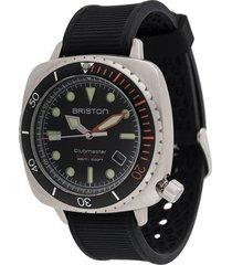briston watches clubmaster diver pro 44mm watch - black