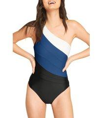 women's summersalt the sidestroke one-piece swimsuit, size 2 - blue