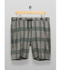 mens grey charcoal gray and green check shorts