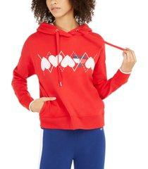 tommy hilfiger sport heart-graphic hoodie