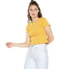 camiseta amarillo mostaza glamorous