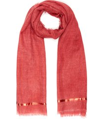spray righino oro' cashmere scarf
