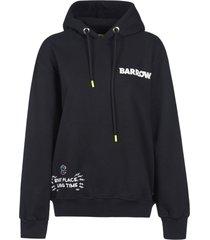 barrow rear logo printed hoodie