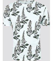 mönstrad t-shirt i ekologisk bomull - vit