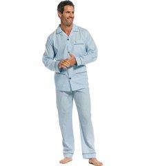 heren doorknoop pyjama robson 27211-701-6-64