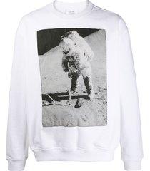 calvin klein jeans est. 1978 photographic print sweatshirt - white