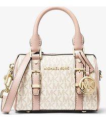 mk borsa a tracolla bedfordlegacy extra small con logo - vanilla/soft pink - michael kors