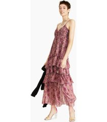 bar iii printed tiered ruffled maxi dress, created for macy's