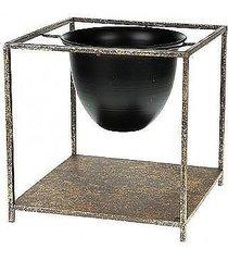 kwietnik metalowy osłonka na stojaku taormina