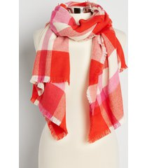 maurices womens red plaid oblong scarf