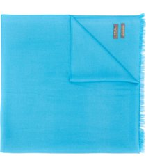 n.peal lightweight cashmere scarf - blue