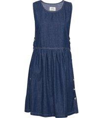 soft indigo dalia jurk knielengte blauw mads nørgaard