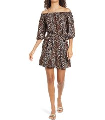 women's lilly pulitzer rochelle off-the-shoulder romper, size x-large - black