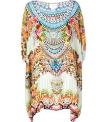 camilla mini kaftan dress - blue