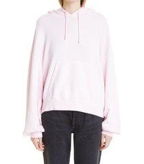 women's john elliott vintage fleece hoodie, size 2 - pink