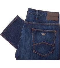 emporio armani j06 comfort denim jeans - denim blue 8n1j061dolz