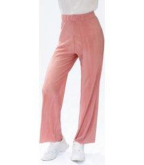 pantalón adrissa palo de rosa efecto plisado