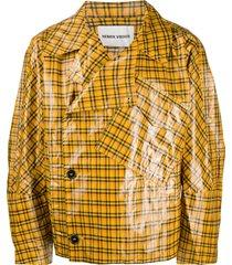 henrik vibskov coated plaid jacket - yellow