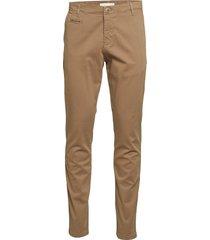 joe slim chino pant - gots/vegan chinos byxor brun knowledge cotton apparel