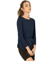camiseta adulto femenino azul navy rutta