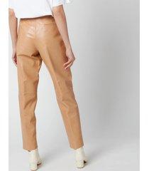 coach women's leather trousers - light beige - us 4/uk 8