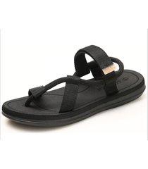 sandalias de verano para hombre para el hogar al aire libre-negro