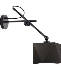 czarny kinkiet tirana lampka z abażurem