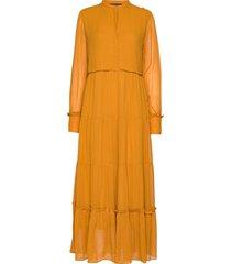 selina long dress maxiklänning festklänning guld soft rebels