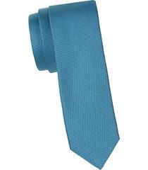 neat pattern silk tie