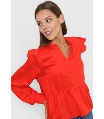 blusa roja nano china