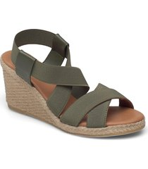 espadrilles 2667 sandalette med klack espadrilles grön billi bi