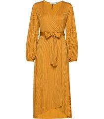 justagz wrap dress ye19 jurk knielengte geel gestuz