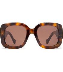 balenciaga balenciaga bb0069s havana sunglasses