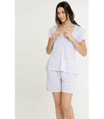 conjunto de pijama marisa maternidade estampa bolinhas feminino