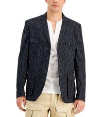 inc international concepts men's zebra hybrid jacket, created for macy's
