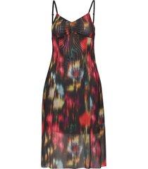 jem jurk knielengte multi/patroon baum und pferdgarten