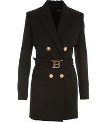 belted wool jacket dress