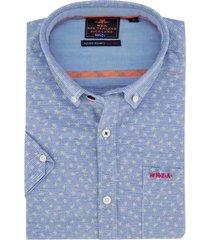 nza korte mouwen shirt magellan blauw groen