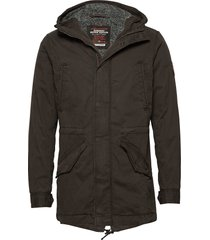 new military parka parka jacka svart superdry