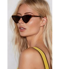 womens play all the angles tortoiseshell sunglasses - brown