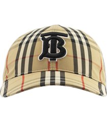 burberry monogram motif vintage check baseball cap