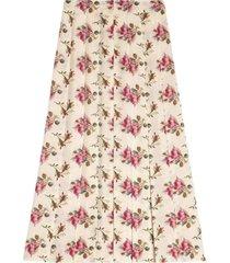 gg zijden rok met rozenprint