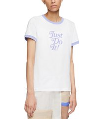 nike women's cotton just do it ringer t-shirt