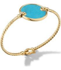 david yurman elements 18k gold & pave diamond bracelet, size medium in turquoise/yellow gold at nordstrom