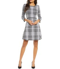 women's donna ricco plaid sweater dress