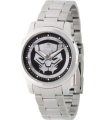 marvel extreme the black panther men's silver alloy watch