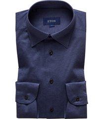 men's eton soft casual line slim fit jersey shirt, size x-large - blue