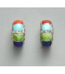 serape stripes hoop earrings